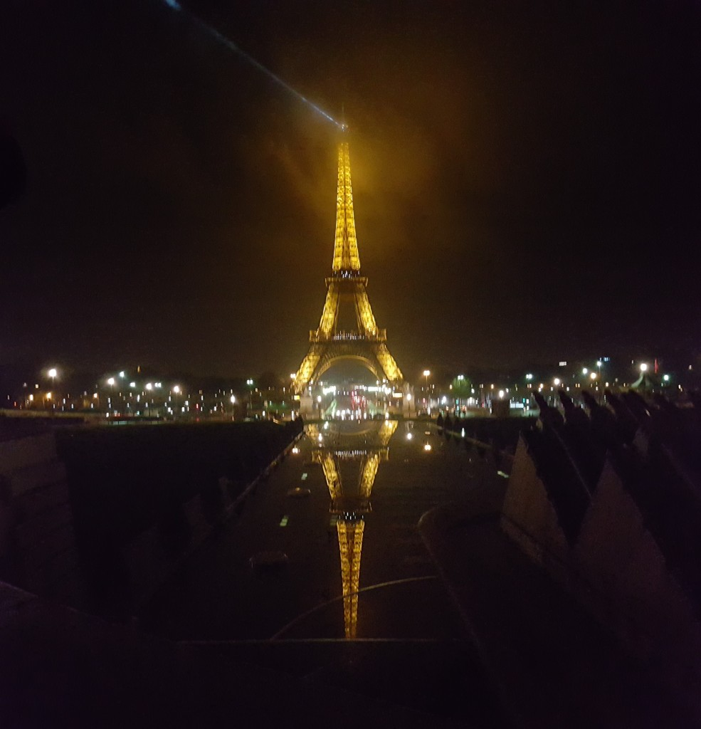 paris, france, eiffel tower, tour de eifflel, night, refllection