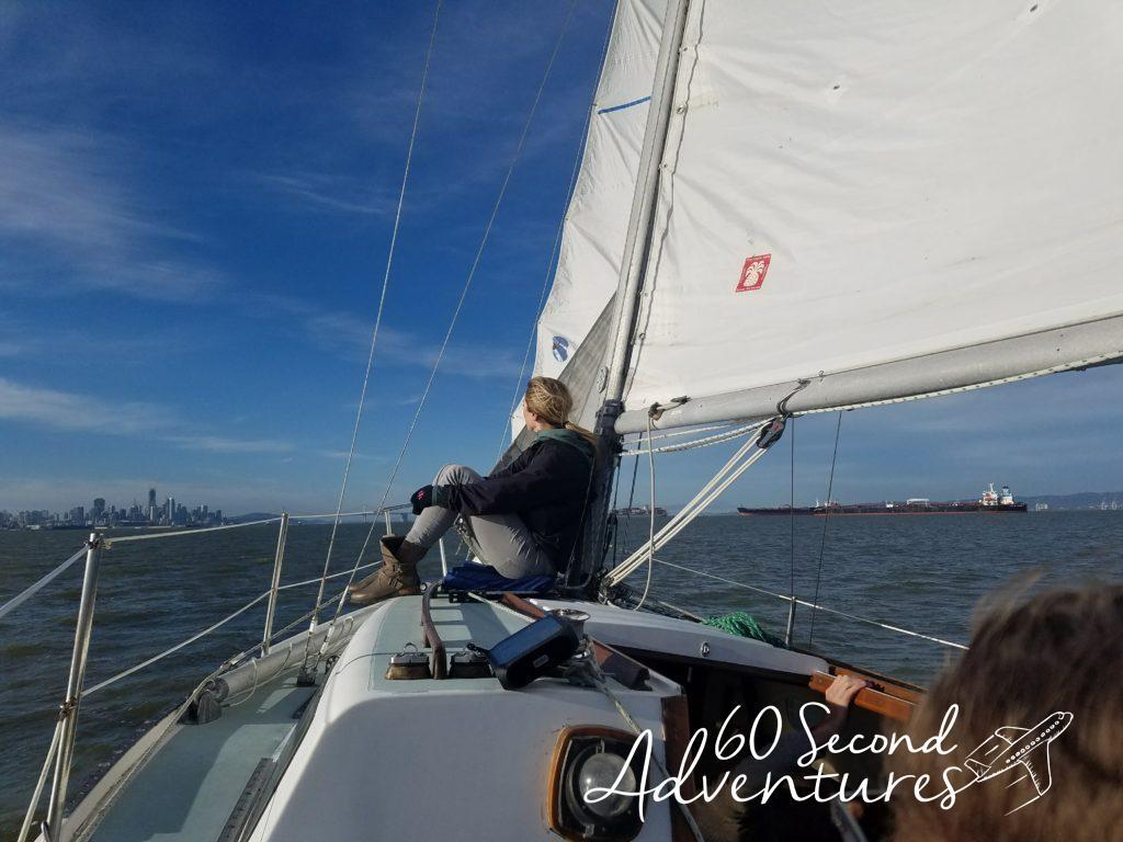 san francisco sailing, sailing on the bay, cal 2-27, cal 227, cal 2 27, sailboat, california